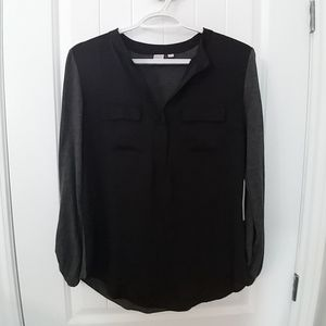 Black and grey blouse